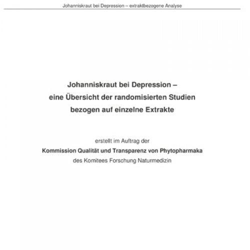 Johanniskraut Metaanalyse
