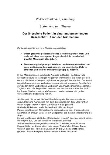 Prof  Fintelmann Statement März 2002