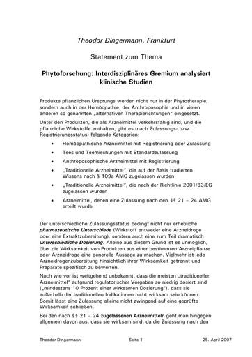 Statement Dingermann