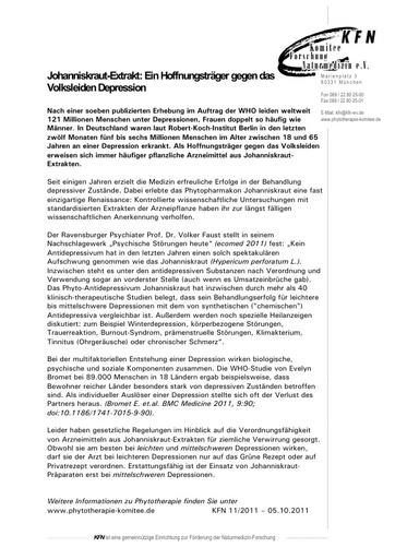 Johanniskraut-Extrakt: Ein Hoffnungsträger gegen das Volksleiden Depression