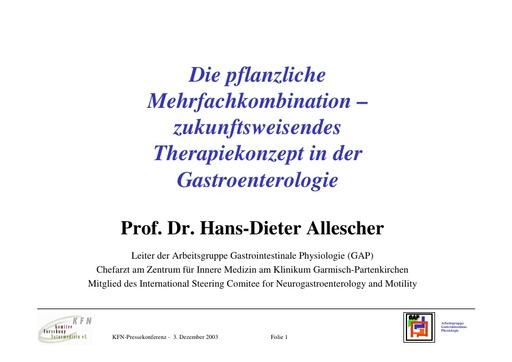 Prof  Allescher Folien Dez  2003