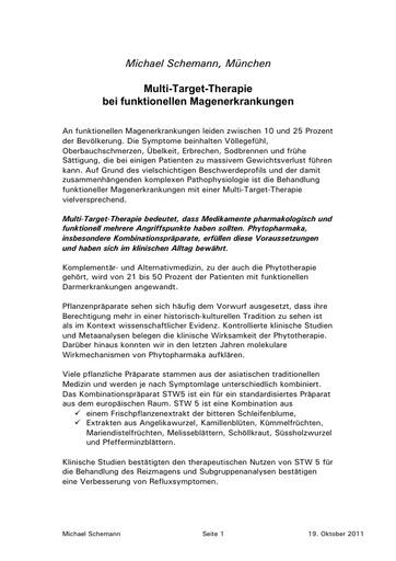 Schemann Statement