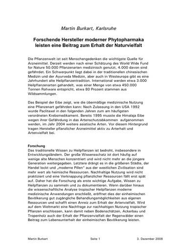 Burkart Statement