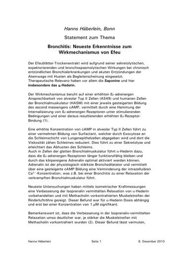 Häberlein Statement