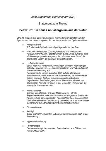 Prof  Brattström Statement Mai 2003