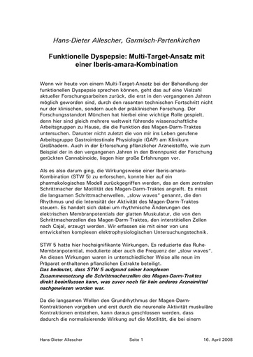 Statement Allescher