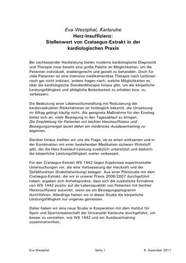Dr Westphal Statement