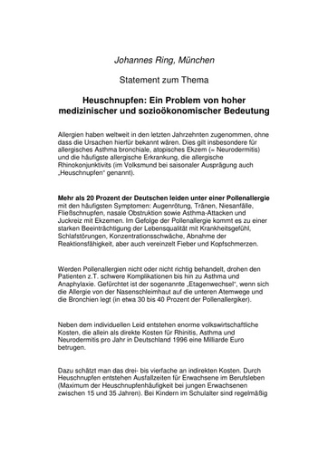 Prof  Ring Statement 2003
