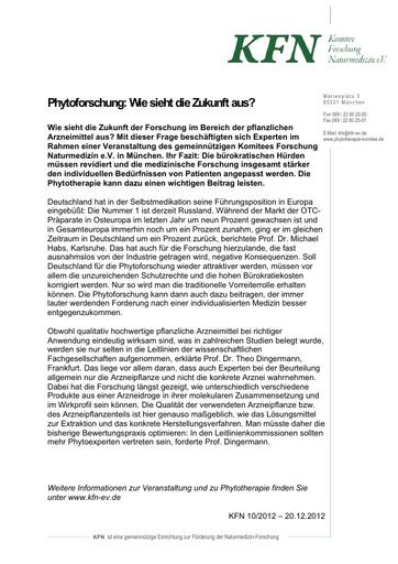 Phytoforschung: Wie sieht die Zukunft aus?