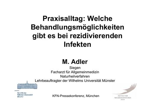 Pressemappe Dr Adler
