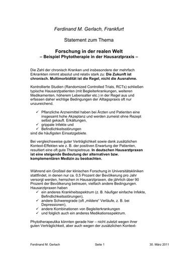 3 Gerlach Statement