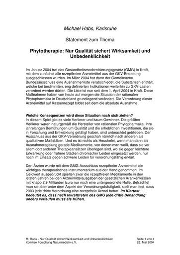 Prof  Habs Statement Mai 2004