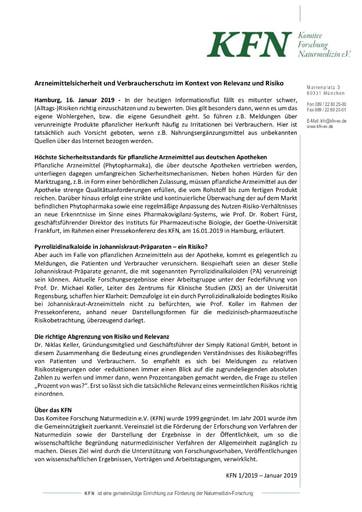 Arzneimittelsicherheit und Verbraucherschutz im Kontext von Relevanz und Risiko