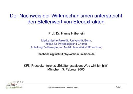 Prof   Häberlein Folien Febr  2005