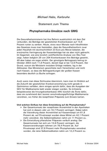 Prof  Habs Statement Okt  2004