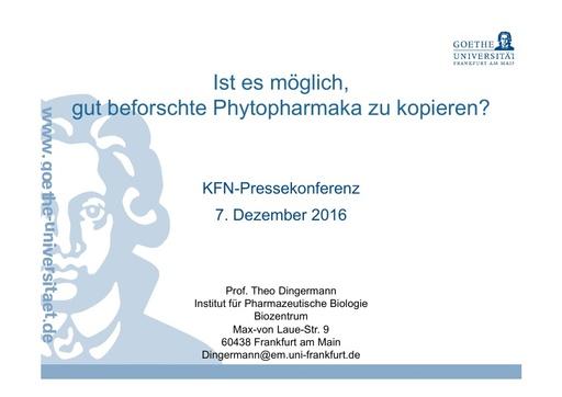 7 Präsentation Dingermann PM 7 12 2016 19 Seiten