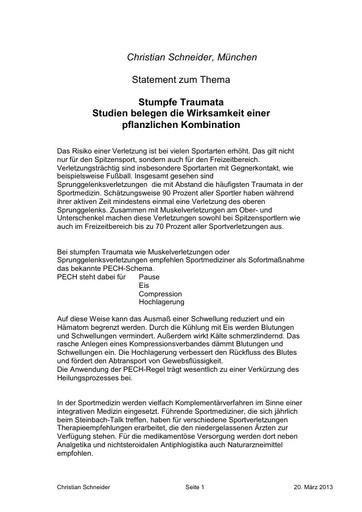 Statement Dr Schneider PK 2013