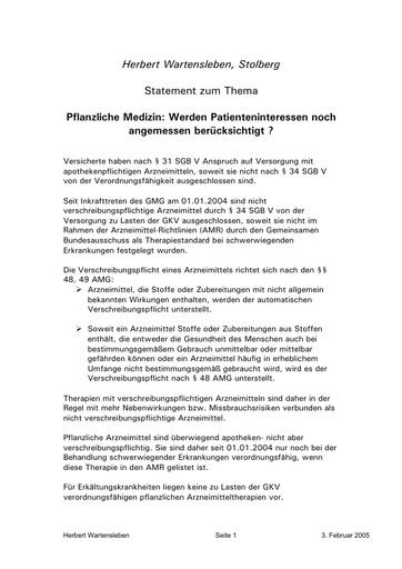 RA Wartensleben Statement Febr  2005