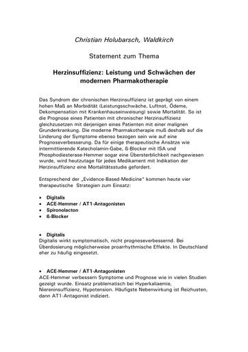 Prof  Holubarsch Statement Juni 2002