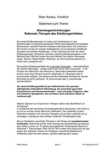 Dr Kardos Statement 04 12 2013