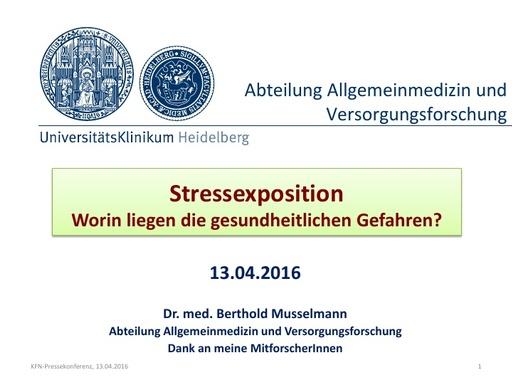 Dr  Berthold Musselmann Präsentation