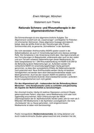 Dr  Häringer Statement Okt  2001