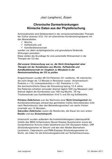 Langhorst Statement