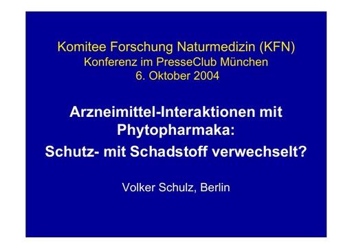 Prof  Schulz Folien Okt  2004