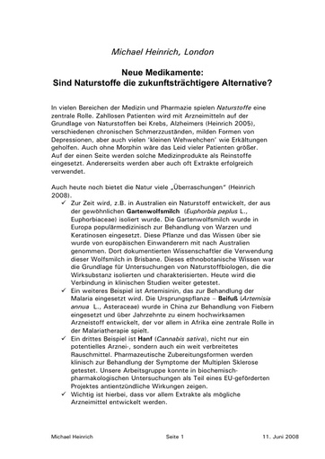 Heinrich Statement