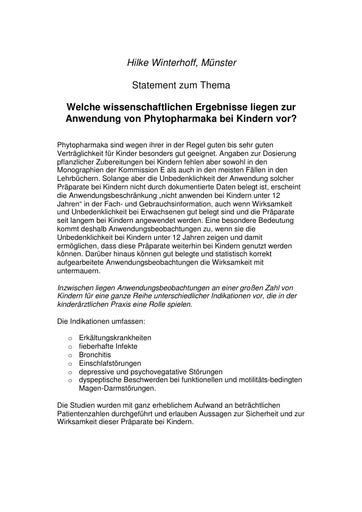 Prof  Winterhoff Statement Dez  2001