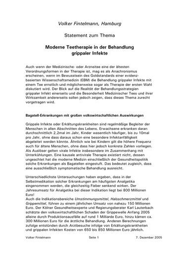 Prof  Fintelmann Statement