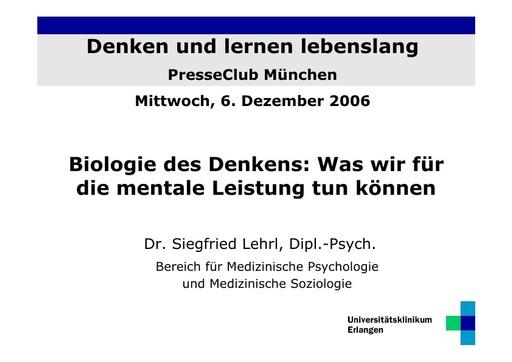 Dr  Lehrl Folien